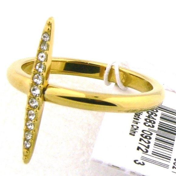 b22812ad0ae19 Michael Kors MK J3524 Ring Yellow Gold 8 NWT